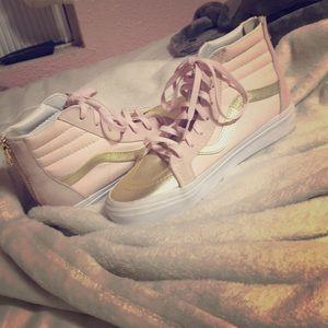 Pink & Gold Hightop Vans